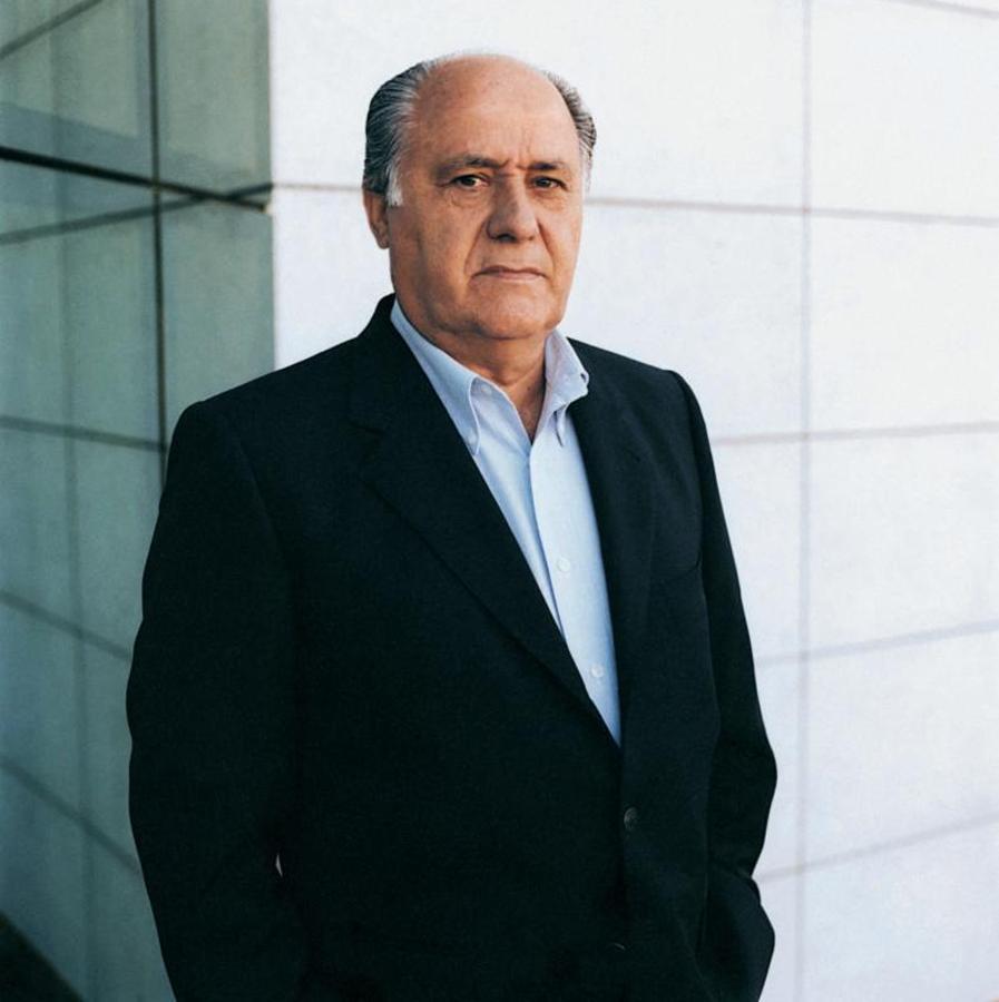 Retrato del fundador de Inditex, Amancio Ortega