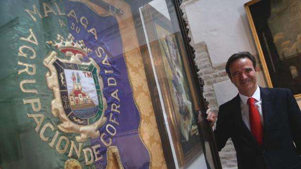Pablo Atencia, presidente de la Agrupación de Cofradías de Málaga