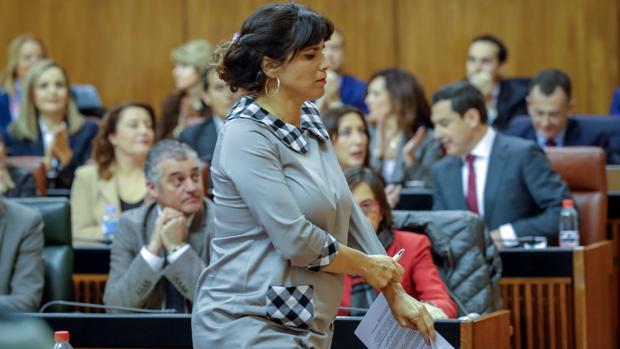 La portavoz de Adelante Andalucía, Teresa Rodríguez