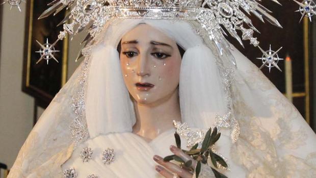 María Santísima de la Paz y Esperanza de Córdoba, en la iglesia conventual del Santo Ángel