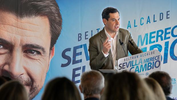 Juanma Moreno, este viernes en Sevilla