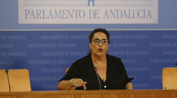 La portavoz adjunta de Adelante Andalucía, Ángela Aguilera