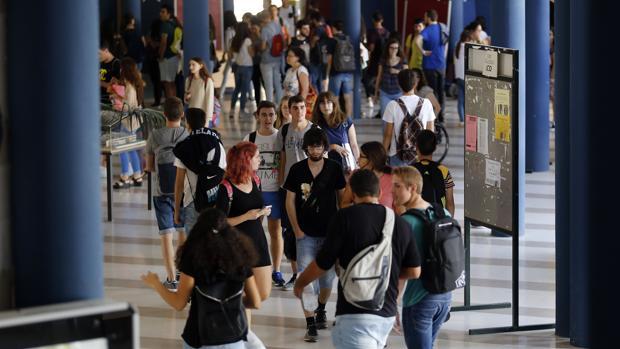 Jóvenes en el Campus Universitario de Rabanales