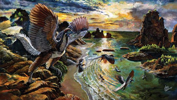 Recreación del Archaeopteryx albersdoerferi
