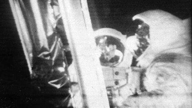 Señal original transmitida desde la Luna, en formato SSTV