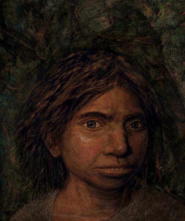 Primer retrato de una niña denisovana