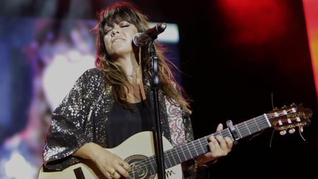 La cantante Vanesa Martín, durante el concierto