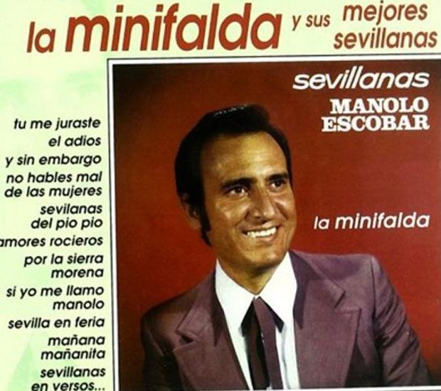 Carátula de Manolo Escobar y «La minifalda»