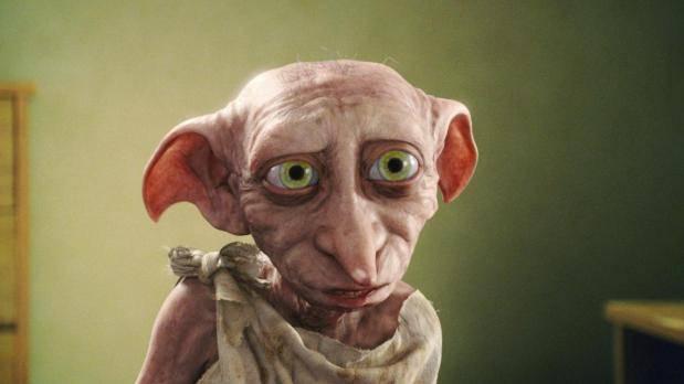 Dobby, el elfo doméstico, en una escena de la saga Harry Potter
