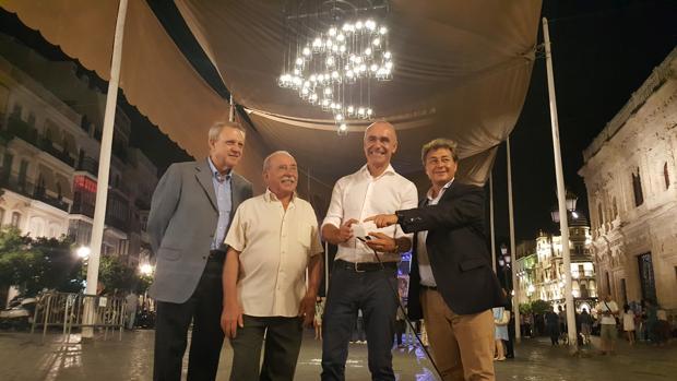 Momento de la inauguración de la Bienal de Flamenco de Sevilla 2018