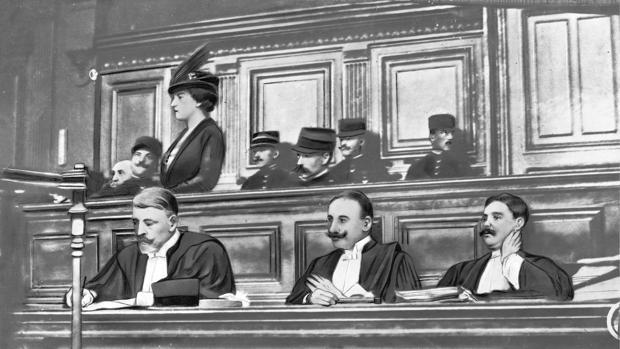 Madame Caillaux declara en el juicio por el asesinato de Calmette