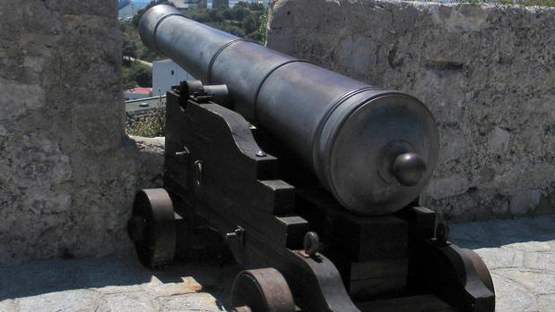 Réplica de un cañón de guerra del siglo XVII