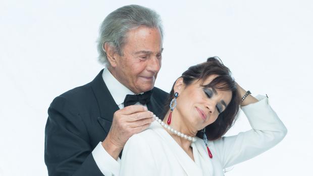 Arturo Fernández y Carmen del Valle en la presentación de «Alta Seducción»
