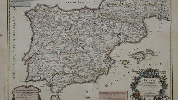 El primer mapa de postas de la Península Ibérica