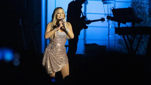Mariah Carey, anoche durante su actuación en Pedralbes