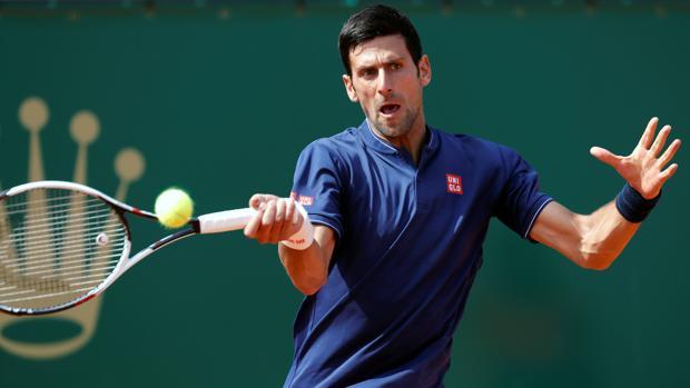 Djokovic, durante su partido ante Simon