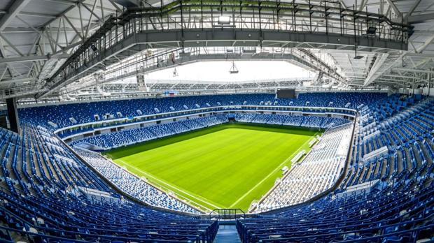 Interior del estadio de Kaliningrado, sede del Mundial de Rusia 2018