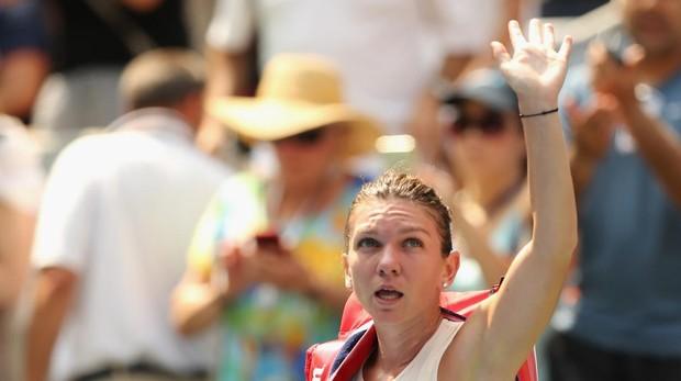 Simona Halep se despide de sus fans tras caer en la priemra ronda del US Open