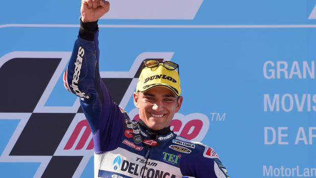 Jorge Martín celebra el Gran Premio de Aragón