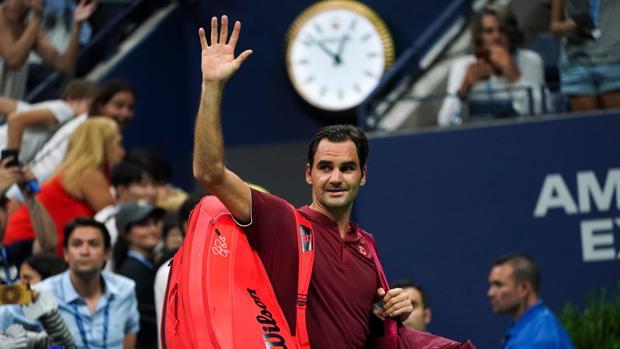 Roger Federer, durante el US Open del año pasado
