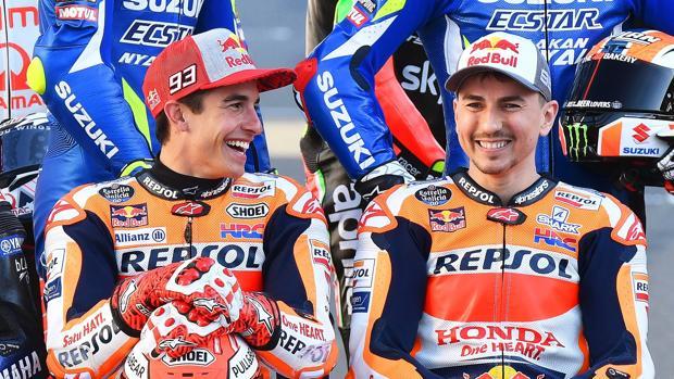 Márquez y Lorenzo, en la presentación del Mundial de MotoGP 2019