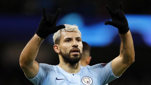 Sergio Agüero, futbolista del Manchester City
