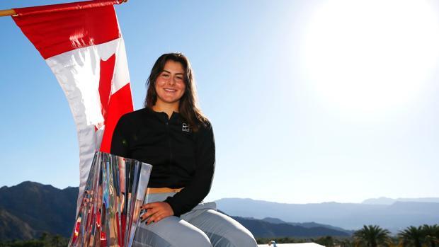 Bianca Andreescu poca con el título de Indian Wells