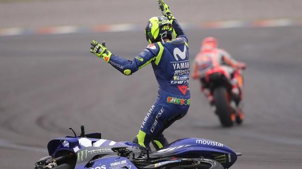 Rossi, en el incidente con Marc Márquez en el GP de Argentina de 2018