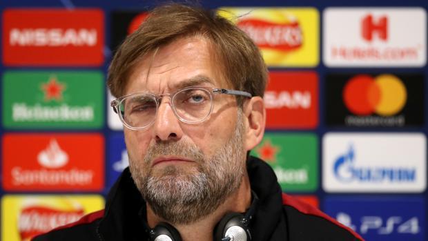 Jürgen Klopp, durante la rueda de prensa previa al partido de vuelta frente al Barcelona