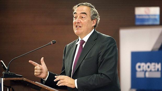 El presidente de la patronal CEOE, Juan Rosell