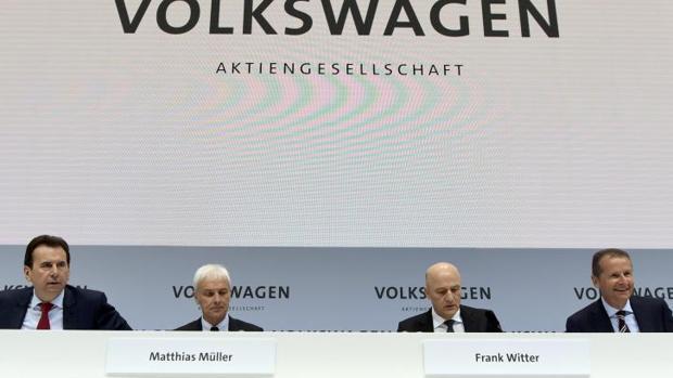 Presentación de los resultados de Volkswagen
