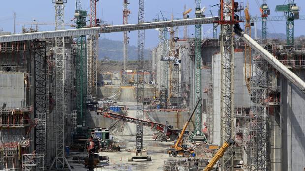 Foto de archivo de las obras del proyecto de ampliación del Canal de Panamá