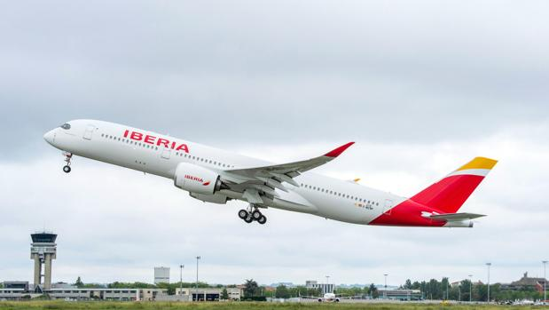 Con este Airbus A350 Iberia continúa renovando su flota
