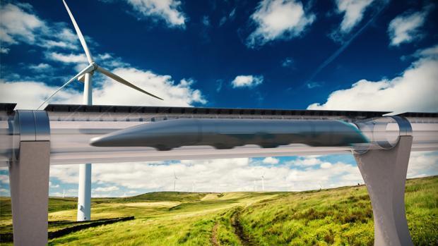 Recreación del tren supersónico