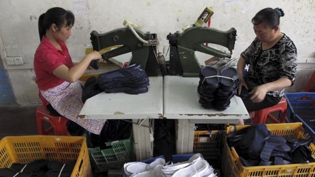 Producción textil en China