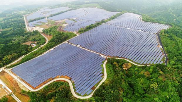 Planta fotovoltaica en Kumamoto (Japón)