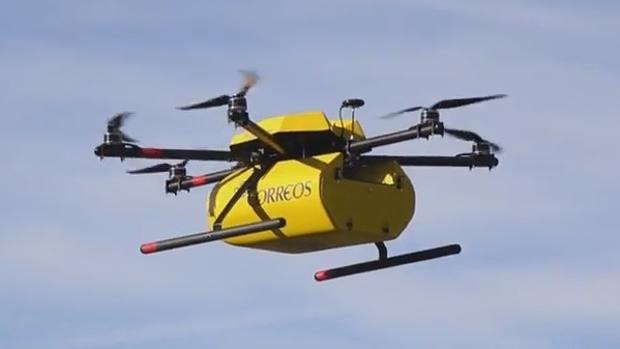 Un dron de Correos