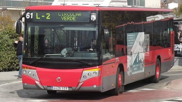 Un autobús de la EMTF de Fuenlabrada