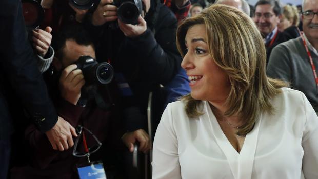 Susana Díaz, en el Comité del PSOE del sábado pasado en Ferraz