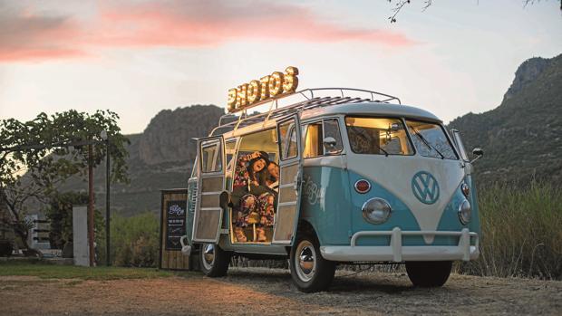 Volkswagen T1 en la que los invitados pueden conseguir una foto