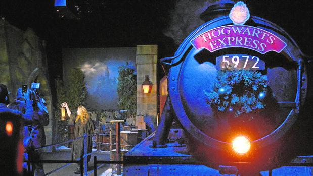 Imagen del expreso de Hogwarts en Harry Potter: The Exhibition