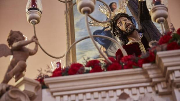 Talla del Cristo de Las Tres Caidas de Madrid