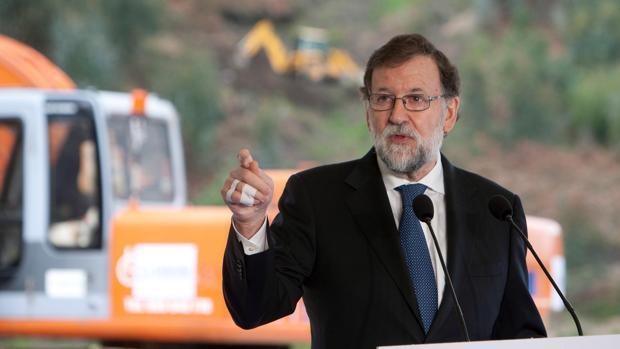 Mariano Rajoy, este lunes en Galicia