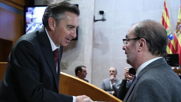 Los líderes del PSOE y del PP en Aragón, Javier Lambán y Luis Mariá Beamonte, en una imagen de archivo