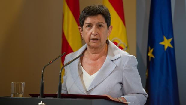 Teresa Cunillera, el día de su toma de posesión como delegada del Gobierno en Cataluña