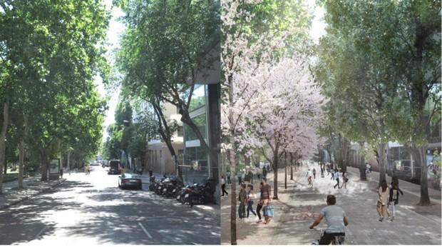 El antes y el después de la reforma en Plaza España