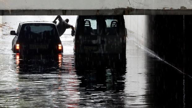 Imagen de un túnel inundado el pasado sábado en Alfafar