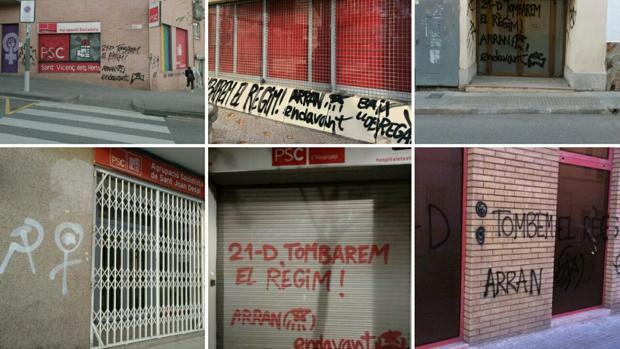 Las pintadas y las amenazas de muerte a los estudiantes constitucionalsitas en Barcelona