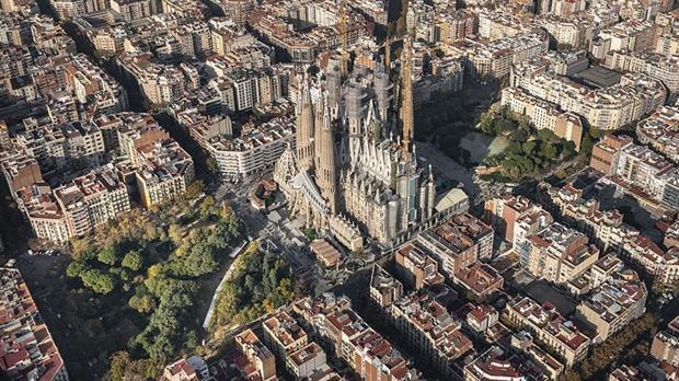 Vista aérea del templo