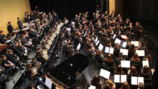 Jóvenes músicos en un concierto ofrecido en el Auditori Teulada Moraira